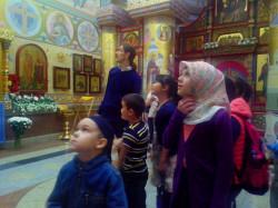 Дети мусульман побывали в православном храме.